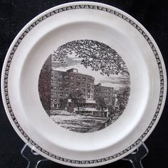Wedgwood MIT Baker House commemorative collector plate. Iconic landmark of Massachusetts Institute of Technology.