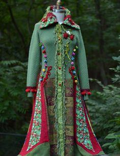 Kasjmier boho trui jas draagbare kunst fantasie kleding