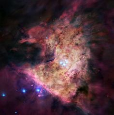 В сердце туманности Ориона - эмиссионной туманности NGC 1976 (М42) в созвездии Ориона
