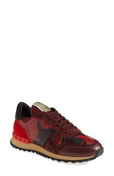 Valentino Camouflage Sneaker available at #Nordstrom