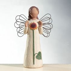 Angel Of Summer - by Willow tree.I have the guardian angel at home Willow Figurines, Willow Tree Figures, Willow Tree Angels, Yule, Willow Tree Family, Tree People, Willow Creek, Tree Sculpture, Ceramic Sculptures