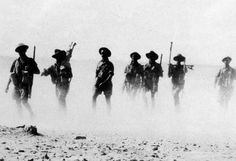 Australian troops return from a patrol outside the Tobruk perimeter, August 1941. (From ww2today.com/)
