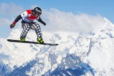 Veysonnaz, Switzerland — Nick Baumgartner of the U.S. during the men's snowboard cross world cup qualification race.