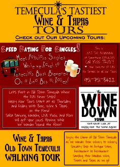 Come have some great fun Temecula's Tastiest Tours - Wine, Beer and Tapas 4 hour walking tour through Old Town.