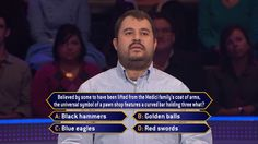 Today, Andy Spatz is back for a second day, but can't pawn this question on an all-new #MillionaireTV with host Terry Crews. What Andy wants to do is to reach the $100,000 question, upon which Shriners Hospitals for Children will receive $10,000. Contestants play for a great cause on Wednesday's show and all this week. Go to www.millionairetv.com for local time and channel to watch!