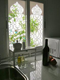 Dise os de bambu para vidrios opalizados ventana con - Vinilos decorativos para vidrios ...