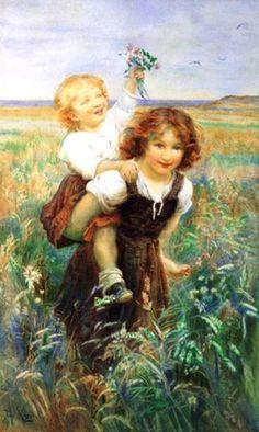 Sisters ~ Frederick Morgan ~ (English 1847 – 1927)