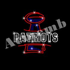Patriots Sports Team Rhinestone Iron On Transfer New Arrival