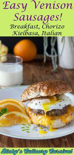 Venison Sausage Recipes, Italian Sausage Recipes, Deer Recipes, Fall Recipes, Healthy Recipes, Smoked Salmon Recipes, Smoking Recipes, Breakfast For Dinner, Bakken