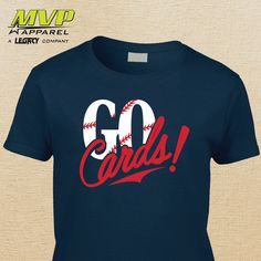 GO CARDS Cardinals Tee  STL  Ladies T-shirt  by MVPaLegacyCompany