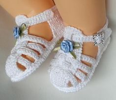 sapatinho de crochê feminino
