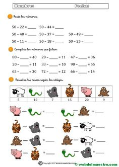 Kids Math Worksheets, Math Class, Math For Kids, Homeschool, Teaching, Activities, Education, School Ideas, Numbers