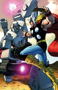 Megatron vs Thor by Dan-the-artguy.deviantart.com on @deviantART