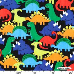 Michael Miller Crayon Box Dino Mites in Primary Michael Miller Dino Mites in Primary Michael Miller fabric for patchwork quilting and dressmaking from Eclectic Maker [CX6337-PRIM-D] : Patchwork, quilting and dressmaking fabric, patterns, habberdashery and notions from Eclectic Maker