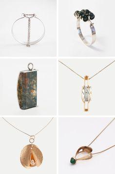 Elis Kauppi Finnish modernist jewelry from the Contemporary Jewellery, Modern Jewelry, Jewelry Art, Vintage Jewelry, Jewelry Necklaces, Handmade Jewelry, Jewelry Design, Jewelry Ideas, Miss Moss