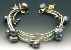 Secret Life of Jewelry - A Universe of Handcrafted Art to Wear: Susan Chin Jewelry, Forged Links bracelet