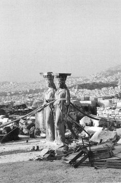 Jean Francois Bonhomme, from Jacques Derrida's Athens, Still Remains, 1966 Acropolis, Athens Greece, Ancient Art, Urban Decay, Geography, Statue Of Liberty, Religion, Around The Worlds, Sculpture