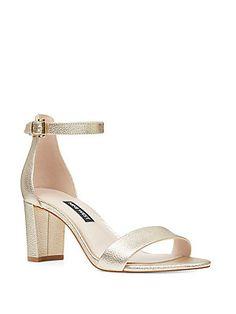 2a9b464a1c8 Nine West Pruce Block-Heel Sandals - Silver 6.5M