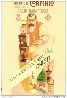 cartolina pubblicitaria ITALIA ABRUZZO CHIETI Liquore Corfinio Ditta E. Barattucci