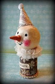 paper clay snowman - Google Search