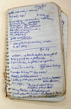 """Bob Dylan's notebook for Blood On The Tracks Part of his secret archive: """"For years, Bob Dylan scholars have whispered about a tiny notebook, seen by only a few, in which the master labored over the..."""