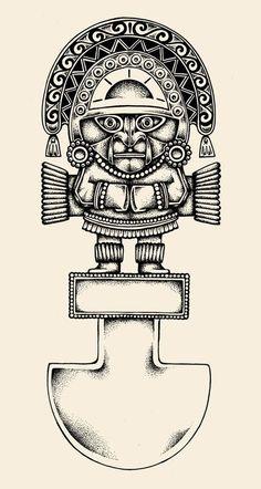 Tumi tattoo designYou can find Inca tattoo and more on our website. Samoan Designs, Aztec Tattoo Designs, Mayan Symbols, Viking Symbols, Egyptian Symbols, Viking Runes, Ancient Symbols, Arte Tribal, Aztec Art