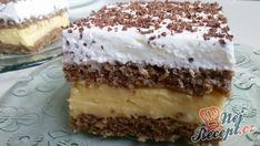Unforgettable nut cream slices from Hungary - Essen und Trinken - Kuchen Oreo Dessert Recipes, Pudding Desserts, Gluten Free Desserts, Easy Desserts, Delicious Desserts, Cake Recipes, Italian Cookie Recipes, Hungarian Recipes, Czech Desserts