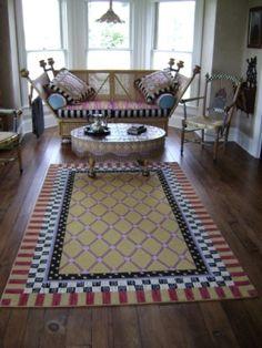 upstairs sitting room - Mackenzie Childs Farmhouse Aurora NY