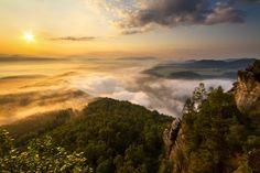 Sunrise on Lilienstein by Jan Moravec on 500px