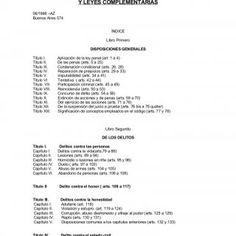 CODIGO PENAL Y LEYES COMPLEMENTARIAS 06/1998 –AZ Buenos Aires 574 ÍNDICE Libro Primero DISPOSICIONES GENERALES Título I. Aplicación de la ley penal (art. 1. http://slidehot.com/resources/codigo-penal-y-leyes-complementarias.11876/
