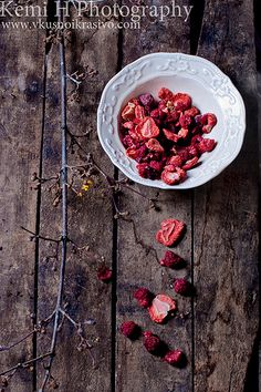 Sun-dried strawberry and raspberry - what a lovely pic!