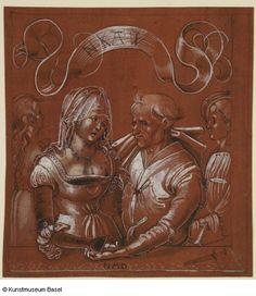 """""""Kupplerin (auch: Liebeshandel)"""" (Matchmaker (also: love trading), um 1510. Niklaus Manuel gen. Deutsch."""
