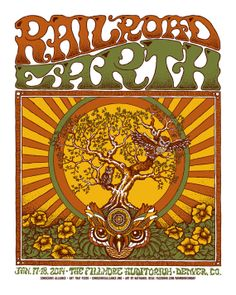 Railroad Earth Fillmore Denver poster