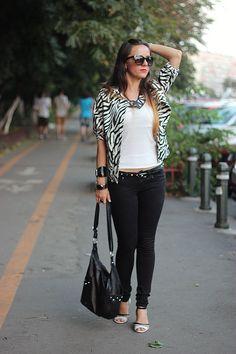 Day 20: Black & white, leather & stripes