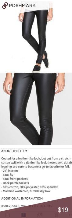 Hue Faux Leather Twill Pants Size S Brand new with tags. HUE Pants Leggings