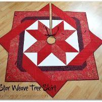 Star Weave Tree Skirt - via @Craftsy