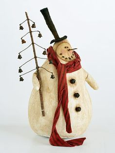 Make a 3-D Snowman from Muslin Stuffed with Fiberfill