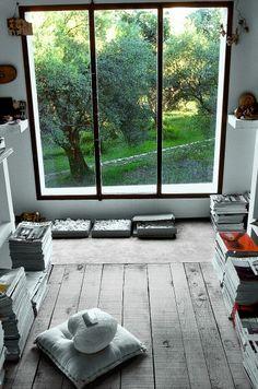 wooden floor, great view