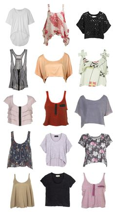 crop tee types - Google Search