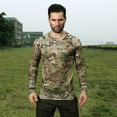 Chiefs Tight Camo Long Sleeve Tactical Running Shirt(MC) #airsoft #365airsoft