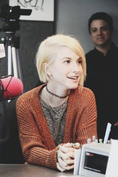 Hayley at MYFM radio Love Haley so much! I went to go see Paramore last September and they were amazing. She was so nice and thankful for everyone being there when we were crying cause we were in the same room as her, Taylor and Jeremy.