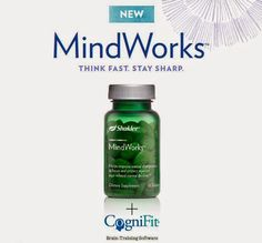 Have you nourished your brain today? Shaklee just introduced a new MindWorks program, including nutritional support + brain training software. Contact me to learn more! #brainhealth