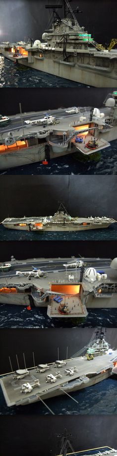 USS Hornet CVS12+3...Apollo 11 Recovery mission 1969...Kit Revell 1/530 scale
