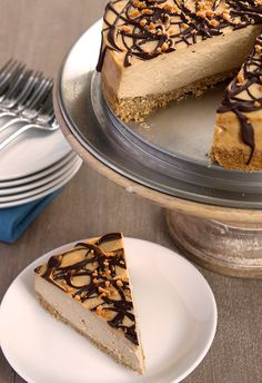 Peanut Butter Cheesecake with Pretzel Crust | Bake or Break