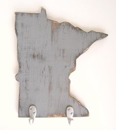 Minnesota - handmade wood key hook organizer on Etsy. $42.00, via Etsy.