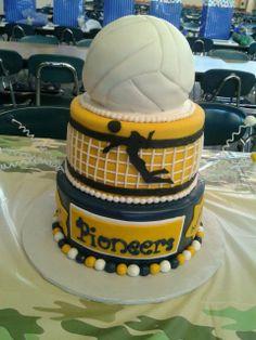 Volleyball senior cake
