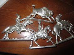 Vintage Greenfield Village 4 metal Figures Indian by kookykitsch, $25.00