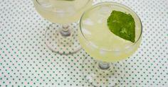 Southside Lady  2 basil leaves  3/4 oz fresh-squeezed lemon juice  1 1/2 oz gin  1 oz simple syrup  1 oz club soda
