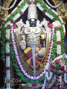 Netra Darshan of Sri Srinivasa Govinda, Special Tulasi Hara on the auspicious occasion of Ekadashi today (07-April-2017) @ ISKCON Bangalore.