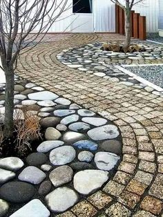 Enhance the look and feel of your yard by installing a stone walkway utilizing a mini-skid from Compact Power Equipment Rental. Paver Walkway, Stone Walkway, Stone Paths, Fachada Colonial, Casa Patio, Outdoor Living, Outdoor Decor, Yard Landscaping, Dream Garden